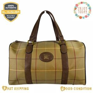 Burberry travel bag Boston canvas brown